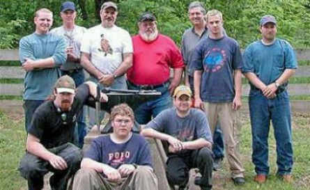 A group shot of us at the Bill Moran School of Bladesmithing in Old Washington, Arkansas back in 2004